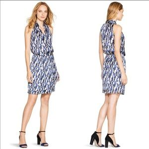 White House Black Market Sleeveless Patterned Wrap